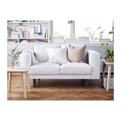 NORSBORG 2er-Sofa - grau, Finnsta weiß - IKEA