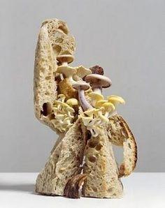 Edible Sculpture at Sketch Restaurant by Erwan Frotin Food Design, Set Design, New Recipes, Snack Recipes, Amazing Food Art, Space Food, Space Space, Food Sculpture, Mushroom Art