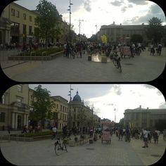 Dzisiejsza Dyskotekowa Masa Krytyczna. A już 2 czerwca widzimy się na Nocy Kultury #rower #lublinrowerem #masakrytyczna #lublin