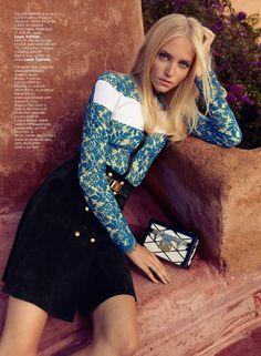 Fredrika Larsson by Asa Tallgard for Elle Romania April 2015 - Louis Vuitton Resort 2015 Only Fashion, Love Fashion, Fashion Models, Fashion Beauty, French Fashion, Timeless Fashion, Matt Jones, Desert Fashion, International Fashion