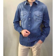New Spring/Summer Jacob Cohen total look. Denim Button Up, Button Up Shirts, Spring Summer, Jeans, Tops, Fashion, Moda, Fashion Styles, Fashion Illustrations