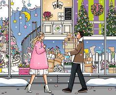 Новогоднее настроение☃❄️ Наша любимая праздничная открытка, созданная для @flowerpower_moscow #girlsinbloom #illustration #newyear #вдохновение #декабрь #новыйгод