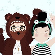 { It's Carnival!!!. Lubi & @cubbygraham having fun!. - #carnaval #carnival #riodejaneiro #errejota  #rio #rj #brasil #brazil #bear #caco #muppets #fantasia #happy by iamlubi