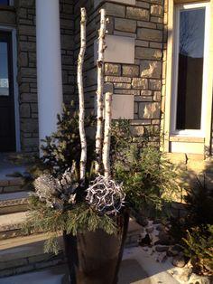 Outdoor winter pot