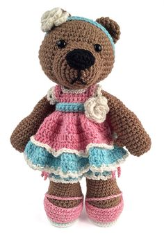 Adelaide crochet amigurumi bear pdf download by gourmetcrochet, $5.00