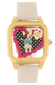 Betsey Johnson 'Lots 'n' Lots of Time' Bulldog Dial Watch | Nordstrom