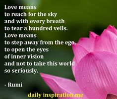 Rumi quote on meaning of love - Daily Inspiration