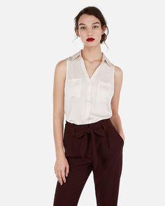 976801ddee834 Express Slim Fit Sleeveless Printed Portofino Shirt