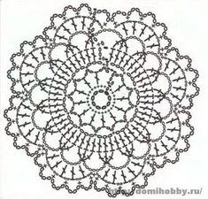 Afbeeldingsresultaat voor mandalas tejidas a crochet patrones Crochet Mandala Pattern, Crochet Circles, Crochet Flower Patterns, Crochet Stitches Patterns, Crochet Round, Crochet Chart, Irish Crochet, Crochet Flowers, Tatting Patterns