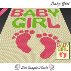 Baby Girl Graph (sc tss c2c cross stitch) | Craftsy
