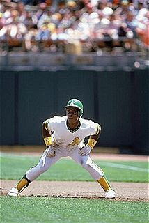 Rickey Henderson - Lost from baseball these days, and the most exciting play in the game, the stolen base. Rickey and Lou Brock and Joe Morgan would steal second, and steal third on a pitcher before he could even finish his warmups