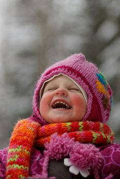 Children in the snow, colourful knitted hats and scarves and mitts, rosy cheeks... so much to love about kids in winter!