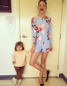 Bloomin' lovely! Jaime King raved about a floral print romper sent to her by Reese Withers...