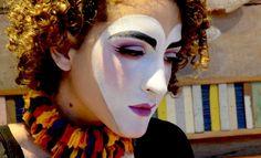 Maquiagem artística de Colombina Vintage Passo a Passo detalhes Vintage clown