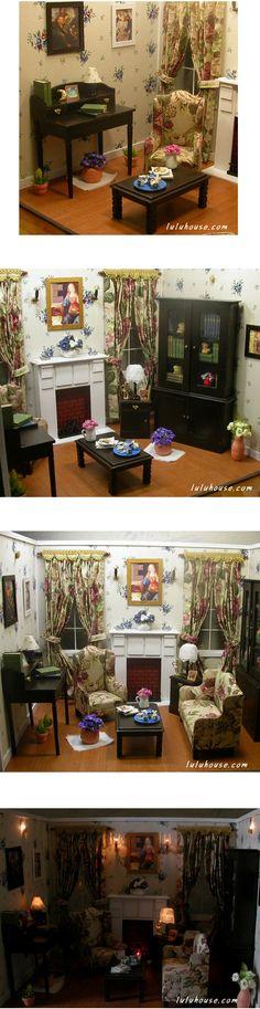 ♡루루하우스♡ 핸드메이드 돌하우스, 바비와 브라이스등 인형사이즈, 미니어쳐 집 가구 소품 선물 판매.