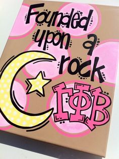 Gamma Phi Beta Open Motto Hand-painted canvas!