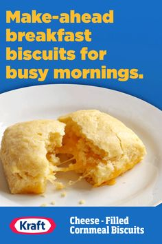 There's bound to be more than a few mornings when you're rushing out of the house. These make ahead biscuits are a quick way to get breakfast in, even on the go. They're great for the kids' commute to school, too! Make Ahead Breakfast, Breakfast Recipes, Dessert Recipes, Desserts, Banana Recipes, Waffle Recipes, Food Network Recipes, Cooking Recipes, Soup Recipes