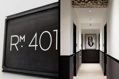 1888 hotel indesignlive hallway room signage