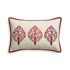 "Yuletide 20""x13"" Holiday Pillow with Down-Alternative Insert"