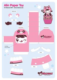 Paper Toys | Blog Paper Toy papertoy Alin Charcua template preview Papertoy Alin by ...