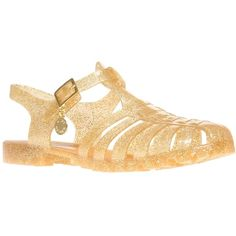 Kurt Geiger Kandice Jelly Rubber Sandals, Gold ($94) ❤ liked on Polyvore