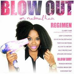 How to Blow Out your natural 4c hair