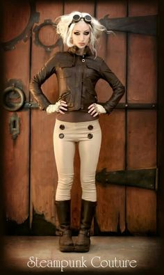 I don't know why these guys choose to identify as steampunk, this outfit is definitely diesel! #steampunk - ☮k☮