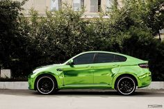 hamann-bmw-x6-wrapped-in-green-chrome-photo- #Car Lover? Visit Us at www.fi-exhaust.com and see what we can do for you!