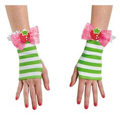 Disguise Womens Strawberry Shortcake Adult Costume Glovettes Multi One Size *** Visit the image link more details.