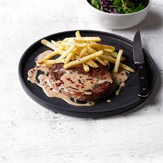 Delicious sounding pink peppercorn sauce recipe from the team at Waitrose. Looking forward to making this. Peppercorn Sauce For Steak, Beef Recipes, Healthy Recipes, Delicious Recipes, Steak Au Poivre, Sugar Free Recipes, Soul Food, Carne, Tasty