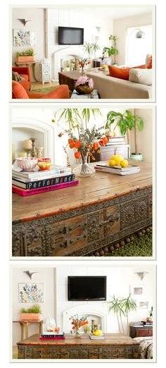 Love a coffee table like this