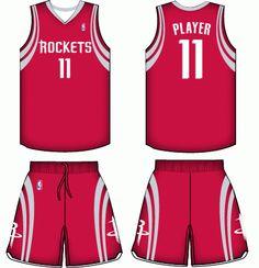 Houston Rockets Road Uniform 2004-2015 Sports Uniforms 21e3a114e