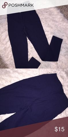 Charlotte Russe Navy high waist stretch pants In excellent condition perfect with heels or booties 💕 Bundle for more savings! Pants Skinny