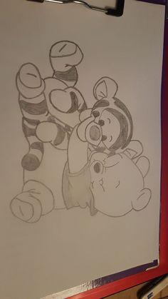 My Disney Drawing - Winnie Pooh and Tigger Guide . - My Disney drawing – Winnie Pooh and Tigger Guide …, - Pencil Art Drawings, Art Drawings Sketches, Cartoon Drawings, Animal Drawings, Easy Drawings, Drawing Cartoon Characters, Amazing Drawings, Cute Disney Drawings, Disney Sketches