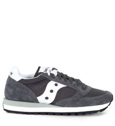 SAUCONY JAZZ SNEAKER IN GREY AND WHITE SUEDE AND NYLON.  saucony  shoes   50454c6db32