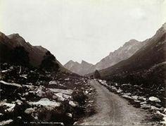 FAKf-100244.160258 «Parti af Romedalen, Søndmør». (JSR-Kode: A8-A-Natur) Landskap, veg, fjell, Ørsta, Romedalen | 1880 - 1900