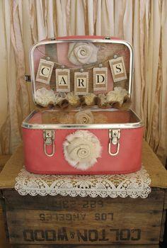 Vintage Suitcase Wedding Card Holder by TheShabbyChicWedding