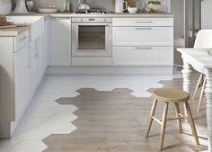 Kitchen floor tile - wood Tile Transition To Hardwood Küchen Design, Floor Design, Interior Design, Design Ideas, Carpet Design, Design Case, Creative Design, Kitchen Tiles, Kitchen Flooring
