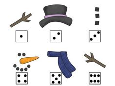 """Free! """"Roll"""" a Snowman dice game"""