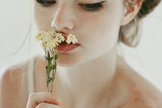 Flowers, girl, photography,