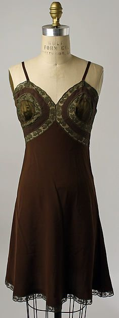 Slip Date: 1940s Culture: American Medium: silk, cotton Dimensions: Length: 35 1/2 in. (90.2 cm) Credit Line: Gift of Arleen B. Rifkind, 1977 Accession Number: 1977.297.1