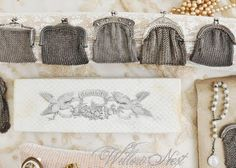 Love these little antique silver mesh evening bags...