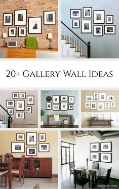 Gallery Wall Ideas Gallery Wall Ideas *Love the stairway galleries. Great examples for bringing together photography, family, and Gallery Wall Ideas *Love the stairway galleries. Great examples for bringing together photography, family, and art. Living Room Photos, Living Room Decor, Wall Design, House Design, Design Bedroom, Gallery Wall Layout, Art Gallery, Gallery Walls, Stairway Gallery