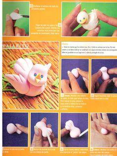 Passo-a-passo passarinho parte 1 #biscuit, porcelana fría, polymer clay
