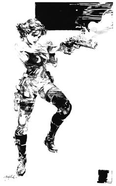 Meryl Black & White, Metal Gear Solid 1