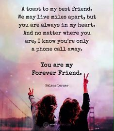 True friendship Quotes and sayings. True friendship is a deepest and most significant relationship that someone can ever experience in his life. My Best Friend Quotes, Best Friends Forever Quotes, Besties Quotes, Birthday Quotes For Best Friend, Bffs, Friends Like Sisters Quotes, To My Best Friend, Goodbye Quotes For Friends, Sister Friend Quotes