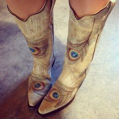 Corral Peacock Feather Cowgirl Boots at RiverTrailMercantile.com!