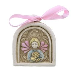 Precious and unique guardian angel crib medal.