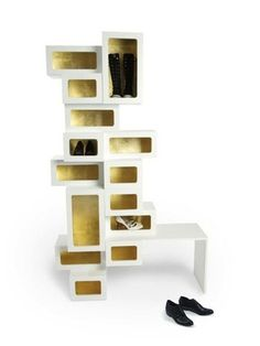 Possibly the coolest shoe storage I've ever laid eyes on.