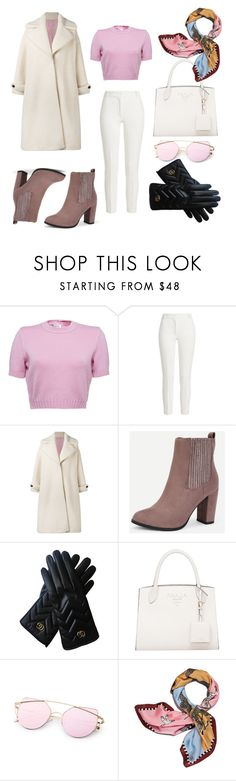 """Snow white❄"" by mayilyan ❤ liked on Polyvore featuring Joseph, Olympia Le-Tan, Gucci and Tory Burch"